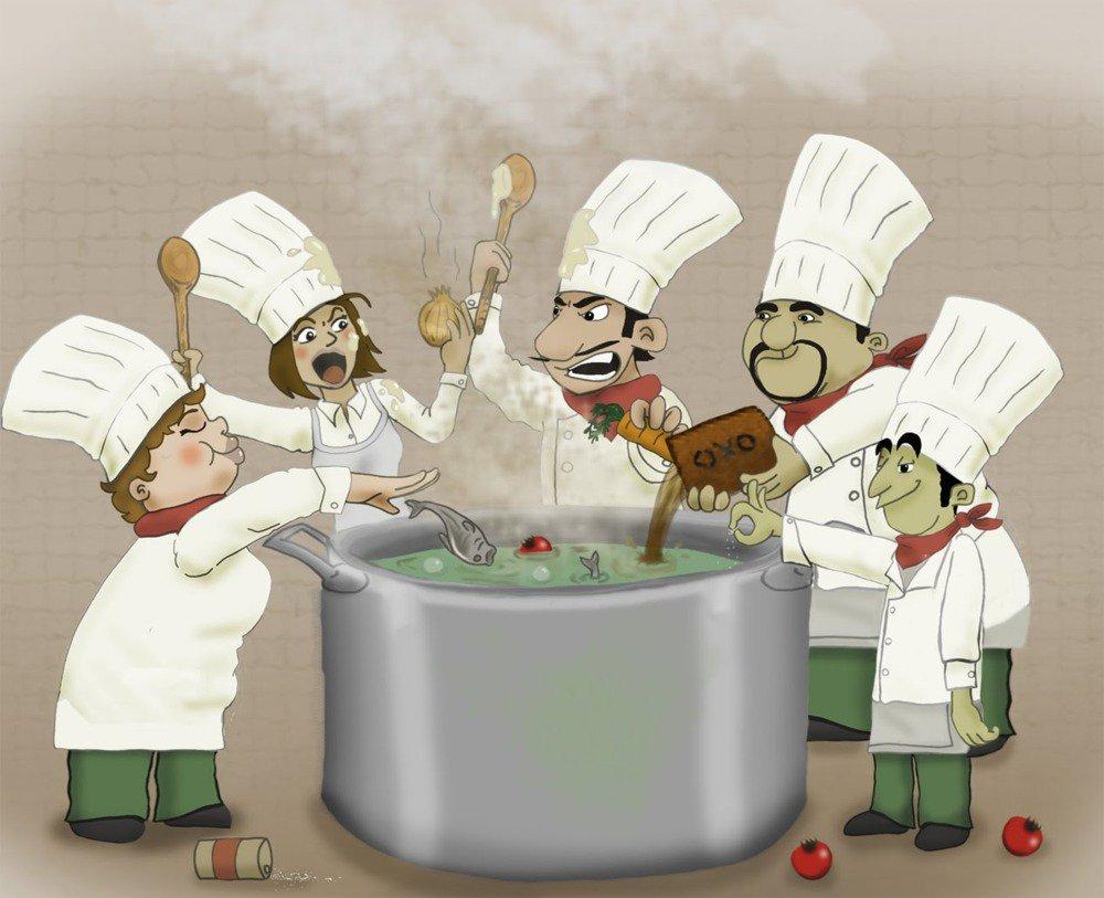 Рисунок смешного повара
